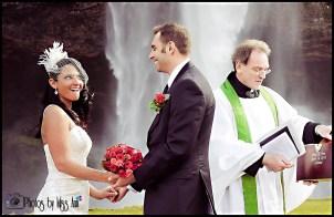 Wedding in Iceland Photos Seljalandsfoss Waterfall Photos by Miss Ann Iceland Wedding Planner