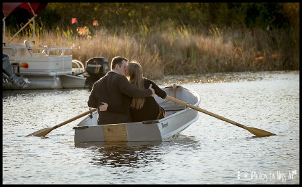 Row Boat Kiss Engagement Sessions on Row Boats by Photos by Miss Ann