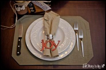 Iceland Winter Wedding Reception Place Setting Idea