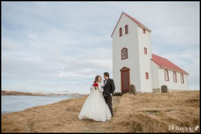 Iceland Elopement Wedding Photos Lakeside Country Church