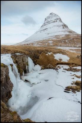 Kirkjufell Mountain and Kirkjufellsfoss Waterfall Iceland Wedding
