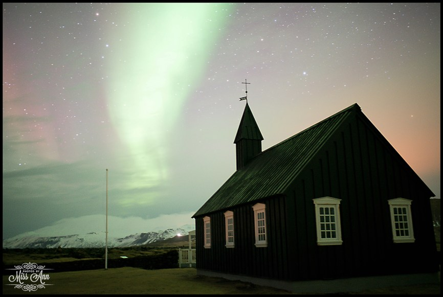 Northern Lights at Hotel Budir Iceland Wedding Photographer Photos by Miss Ann