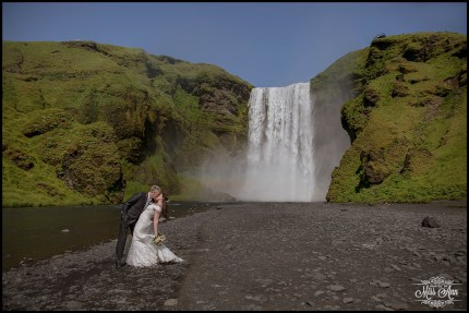 Iceland Wedding Skogafoss Waterfall 2