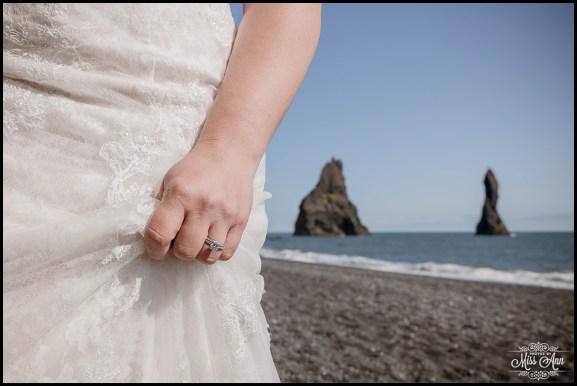 Reynisfjara Beach Wedding Iceland Photos by Miss Ann