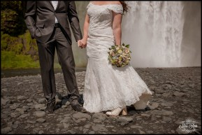 Skogafoss Waterfall Iceland Wedding