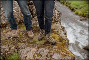 Unique Iceland Engagement Session Oxararfoss Waterfall