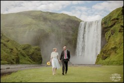 Iceland Wedding Elopement Skogafoss Waterfall