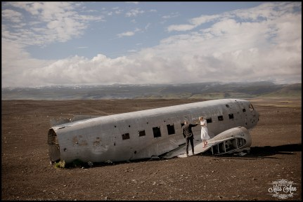 Iceland Wedding Photos Crashed Airplane-1