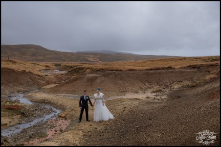 Iceland Wedding at Seltun Lava Field
