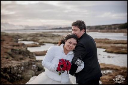 Iceland Winter Wedding Thingvellir