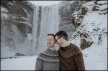 Iceland Engagement Session Skogafoss Waterfall
