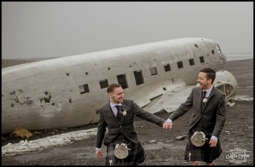 Iceland Wedding Airplane Photos