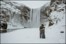 Skogafoss Waterfall Engagement Session Photographer
