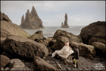 Black Sand Beach Wedding Iceland Photos by Miss Ann