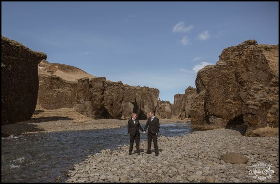 Fjadrargljufur Canyon Wedding Photos