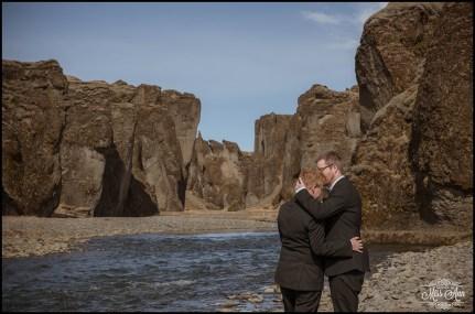 Iceland Wedding Photos Fjadrargljufur