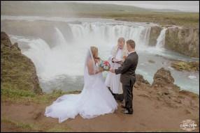 Iceland Waterfall Wedding Godafoss