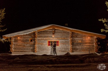 Nighttime Winter Wedding Photos by Miss Ann