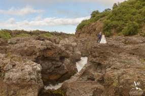 Iceland Wedding - Barnafoss Waterfall