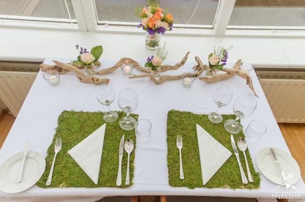 Iceland Wedding Reception Details - Moss Wedding Reception Iceland