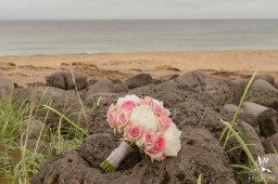 Pink and White Iceland Wedding Bouquet