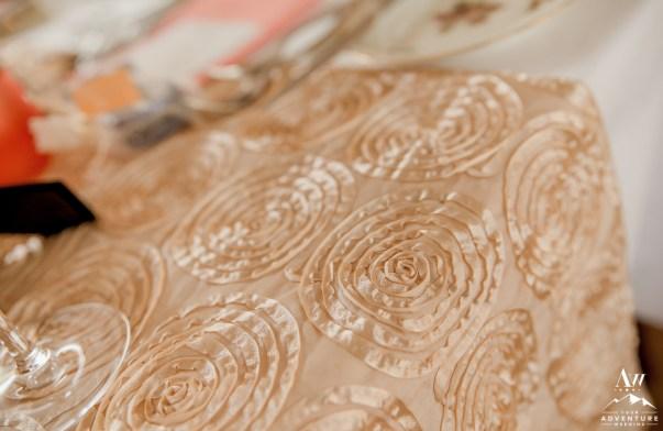 iceland-wedding-rental-ivory-gold-rosette-table-runner
