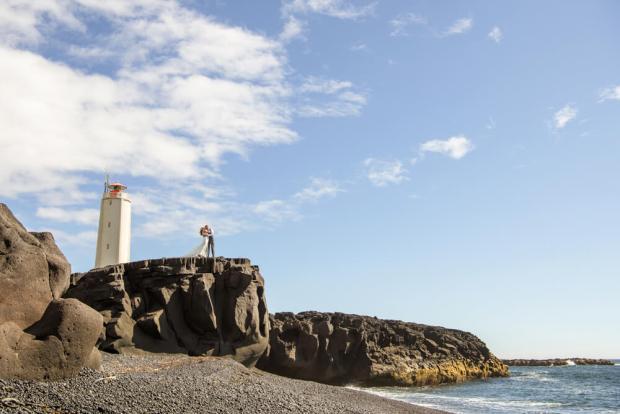 Iceland Lighthouse Wedding