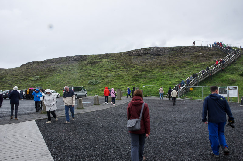 gullfoss lower parking lot