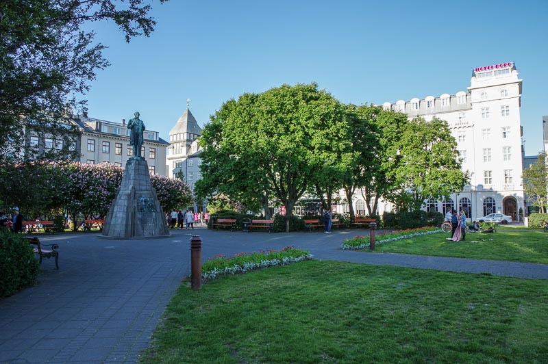 Austurvöllur square