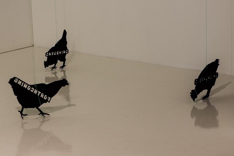 Hafnarhús art museum chickens