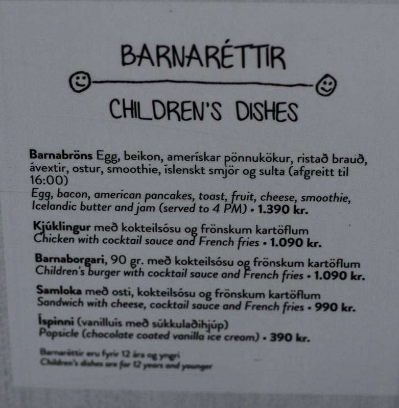 kids menu cafe paris
