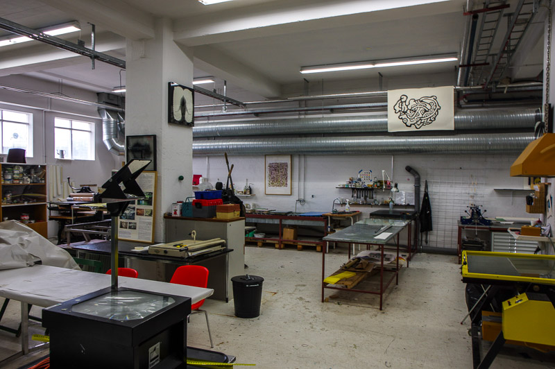printmaking studio