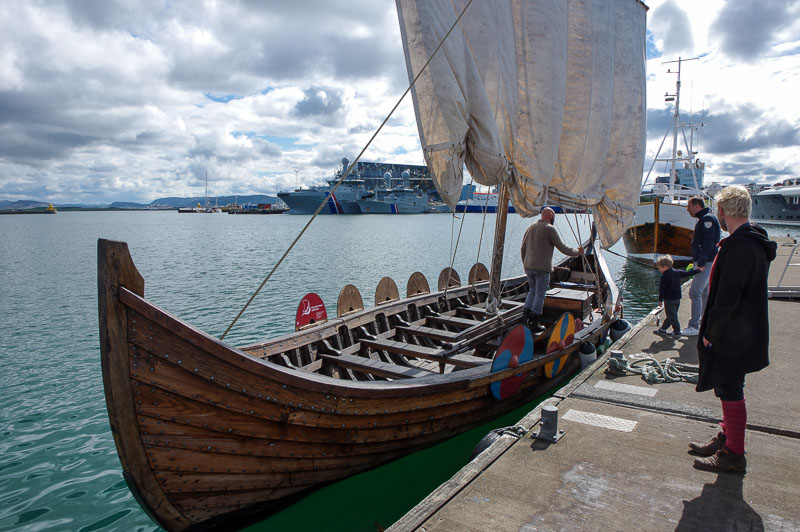 viking boat at dock
