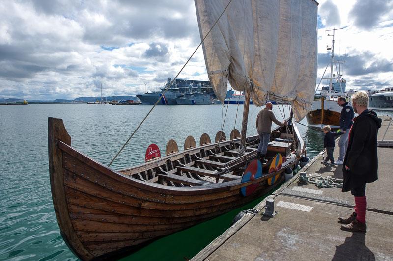 viking boat at dock
