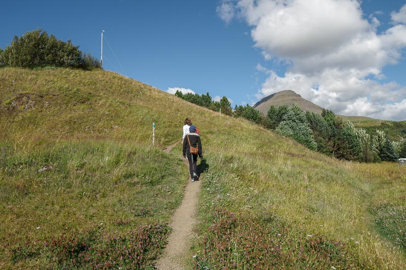 esja hike up hill