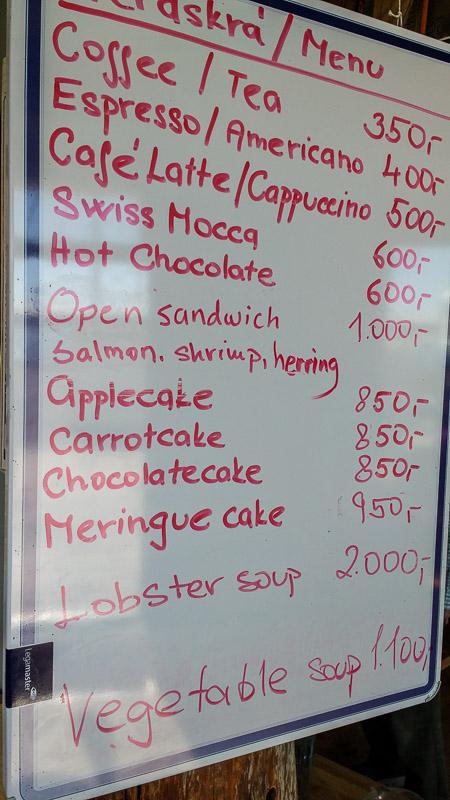 grindavik lunch menu