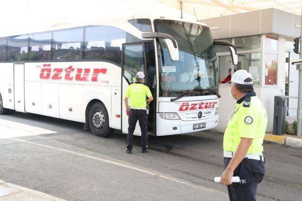 Mersin'de şehirlerarası otobüslerde bayram denetimi