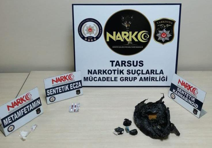 Tarsus'ta uyuşturucu operasyonunda 4 tutuklama