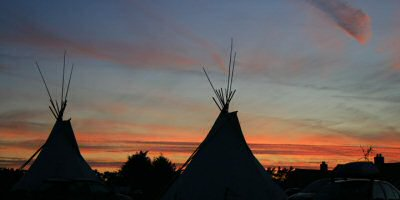 Authentic Sioux Native American style tipis
