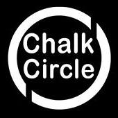 chalk circle snow child