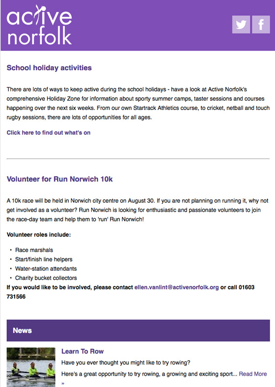 Active Norfolk Summer News 2015
