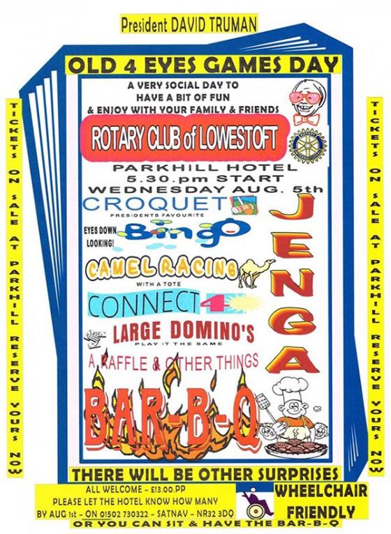 Lowestoft Rotary Club BAR B Q