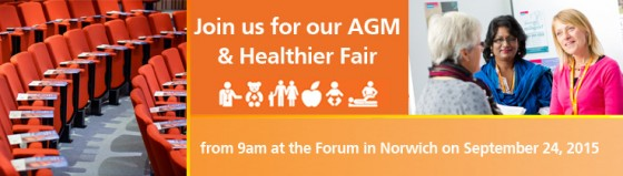 NCH&C Healthier Fair. Showcase of services at The Forum