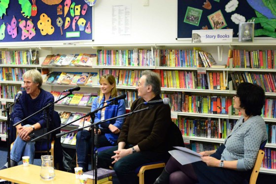 Not Lost in Translation at Wymondham Library, left to right Don Bartlett, Adriana Hunter, George Szirtes and Moniza Alvi (Chair)