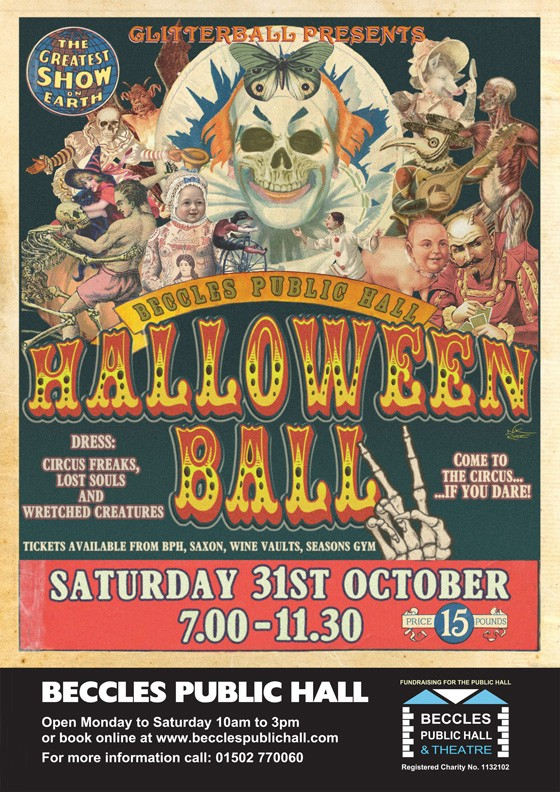 Beccles Public Hall Halloween Ball 31st Oct 2015