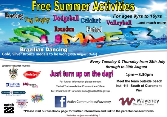 Summer Beach Activities Lowestoft