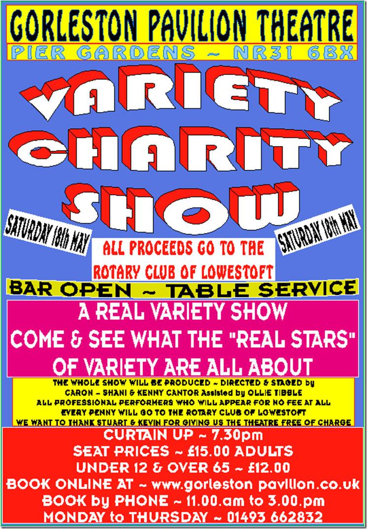 variety charity show gorleston