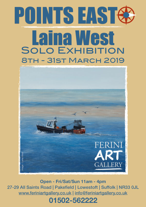 Points East: Laina West Solo Exhibition Ferini Art Gallery