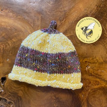 Our own Brimble Bee Jumpers and matching Brimble Bee Hats Buy NOW from MopsiesKnitterbees.co.uk #handknittedbabyjumper #babyjumper #babyhat #bumblebees #beejumper
