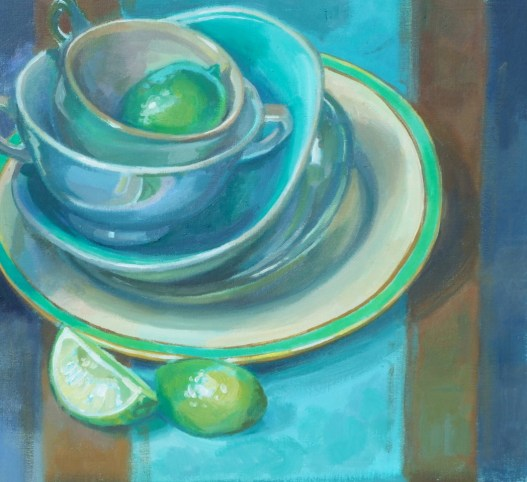 Still Life with Limes by Gillian Marklew